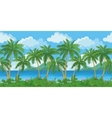 Exotic seamless tropical sea landscape vector image vector image