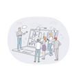 finance marketing data analytics teamwork vector image vector image