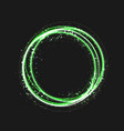green gold circle light effect with round glowing vector image vector image