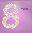 greeting card for march 8 international womens vector image