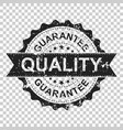 guarantee scratch grunge rubber stamp on isolated vector image vector image