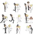 Hand Drawn Wedding Couple Set vector image vector image