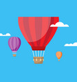 hot air balloon and clouds vector image vector image