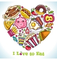 I love to eat vector image vector image