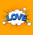 i love you image comic elements and vector image vector image