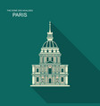image house invalides in paris flat vector image vector image
