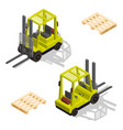 isometric forklift pallet vector image