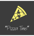 it is pizza time symbols simple banner eps10 vector image vector image
