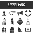 Lifeguard icon set vector image vector image