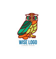 logo template with side view owl portrait vector image vector image