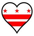 love washington dc vector image vector image
