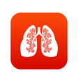 lungs icon digital red vector image