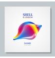 Luxury image logo Rainbow Seashell To design vector image vector image