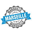 marseille round ribbon seal vector image vector image