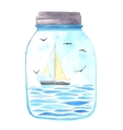 Memories in a jar vector image vector image
