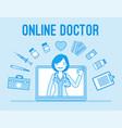 online doctor service vector image