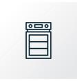 oven icon line symbol premium quality isolated vector image
