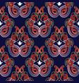 paisleys seamless pattern beautiful ethnic vector image