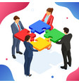 partnership teamwork business mans and womans vector image