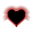 prickly gothic heart red and black art vector image vector image