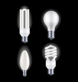 realistic detailed fluorescent and electric light vector image vector image