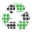 recycle arrows halftone icon vector image vector image