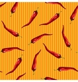 Red chili pattern vector image vector image