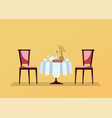 reserved restaurant round table with white vector image
