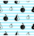scandinavian style fruit seamless vactor pattern vector image vector image