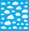 set of clouds isolated on sky background seamless vector image vector image