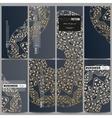Set of modern flyers Golden microchip pattern vector image vector image