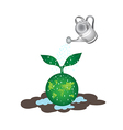 Shower tree on earth vector image