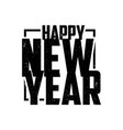 silhouette happy new year vector image