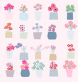 spring summer flower pot vector image vector image