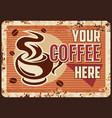 steaming coffee cup with hot drink in mug vector image vector image
