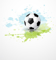 stylish football placed on grunge background vector image