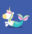 unicorn mermaid horse side 03 vector image vector image