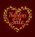 valentines day sale golden and gradient luminous vector image