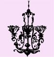 vintage decorative chandelier vector image
