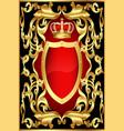 Vintage Golden Shield vector image