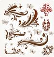Vintage Leaf Icon Set vector image vector image