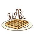 waffle vector image vector image