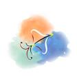 watercolor image of the sagittarius zodiac sign vector image