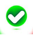 white checkmark confirm icon in green circle vector image vector image