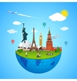 World landmarks concept for vector image vector image