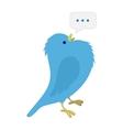 Singing blue bird vector image