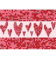 red heart love pixel vector image