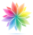 abstract geometric rainbow flower vector image