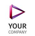 abstract logo play vector image vector image