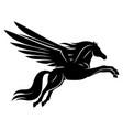 beautiful black pegasus sign vector image vector image